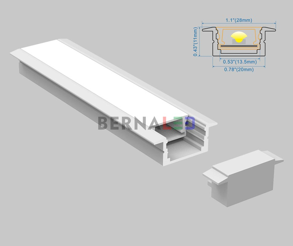 BPS201102 - 28x11mm Recessed Mounted
