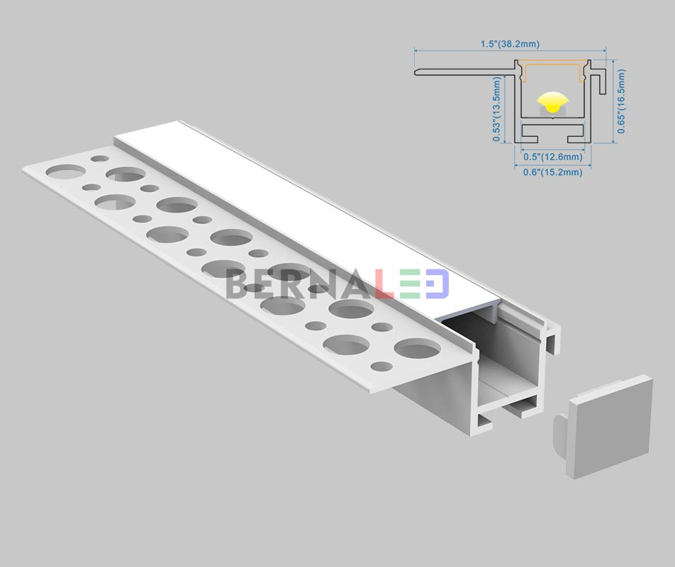 BPS381601 - 38x16mm Wall Mounted
